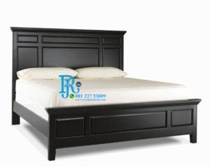Tempat Tidur Minimalis Jati Black