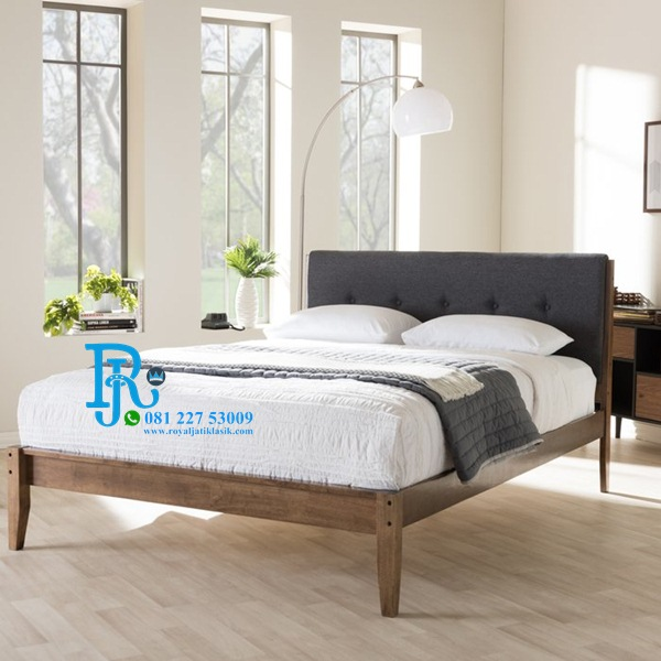 Tempat Tidur Minimalis Jati Cadena