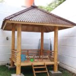 Gazebo Atap Sirap Kayu Glugu Minimalis
