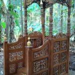 Mimbar Masjid Ukir Natural Model Kubah