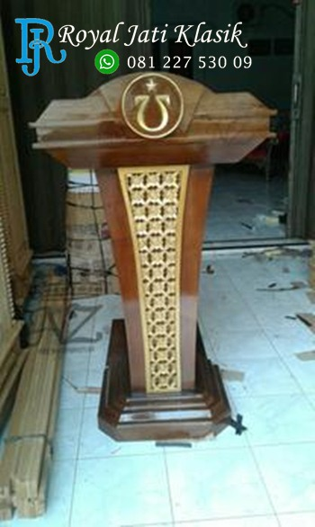 Podium Jati Minimalis Harga Murah
