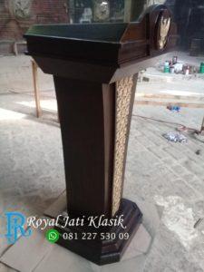 Podium Pidato Minimalis Ukir Garuda Mewah