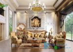 Set Sofa Tamu King Ukir Jati Luxury