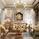 Set Sofa Tamu King Ukir Jati Luxury