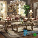 Set Sofa Tamu Klasik Eropa French Jati Klasik