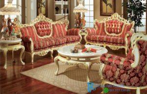 Set Sofa Tamu Klasik Mewah Eropa Cindy Modern