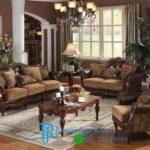 Set Sofa Tamu Klasik Royal Jati Chenille