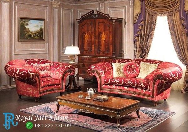 Set Sofa Tamu Klasik Ukir Mewah Royal Eropa