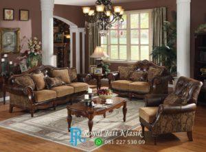 Set Sofa Tamu Klasik Unik Royal Megah