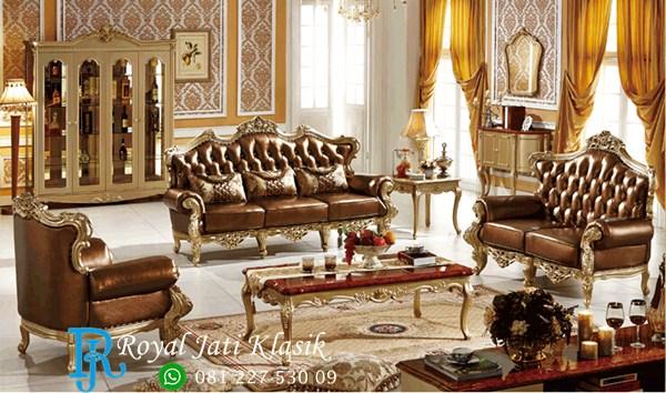 Set Sofa Tamu Luxury Ukir Mewah Klasik