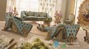 Set Sofa Tamu Mewah Antik Unik Royal Klasik