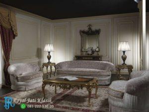 Set Sofa Tamu Mewah Jati Klasik Alondra