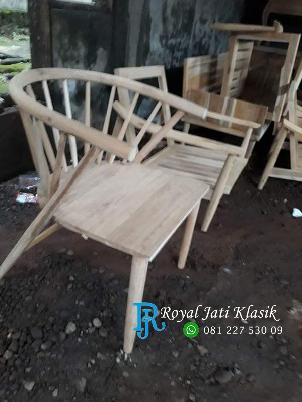 Kursi Cafe Besar Jati Minimalis Ruji