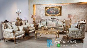 Set Sofa Tamu Mewah Royal Italian Klasik