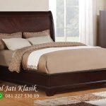 Tempat Tidur Minimalis Natural Jati Mewah