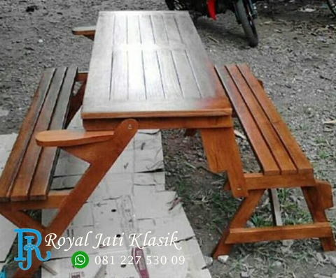Kursi Magic Meja Lipat Kayu Jati