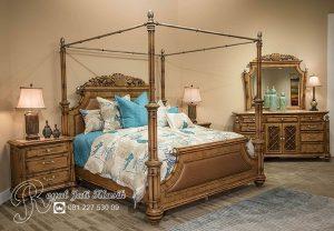 Kamar Tidur Set King Kanopi Ukir Klasik