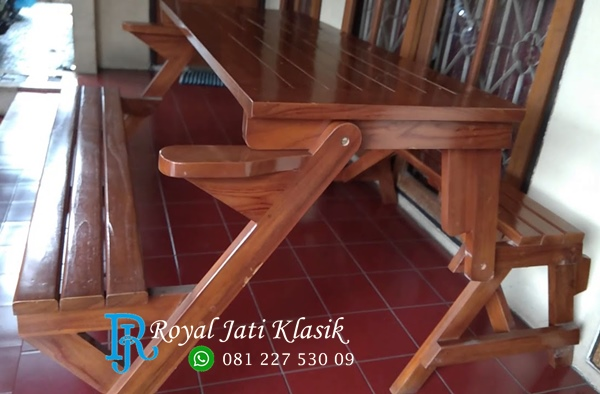 Meja Bangku Magic Lipat Minimalis