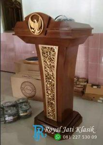 Podium Garuda Pidato Ukir Jati Murah